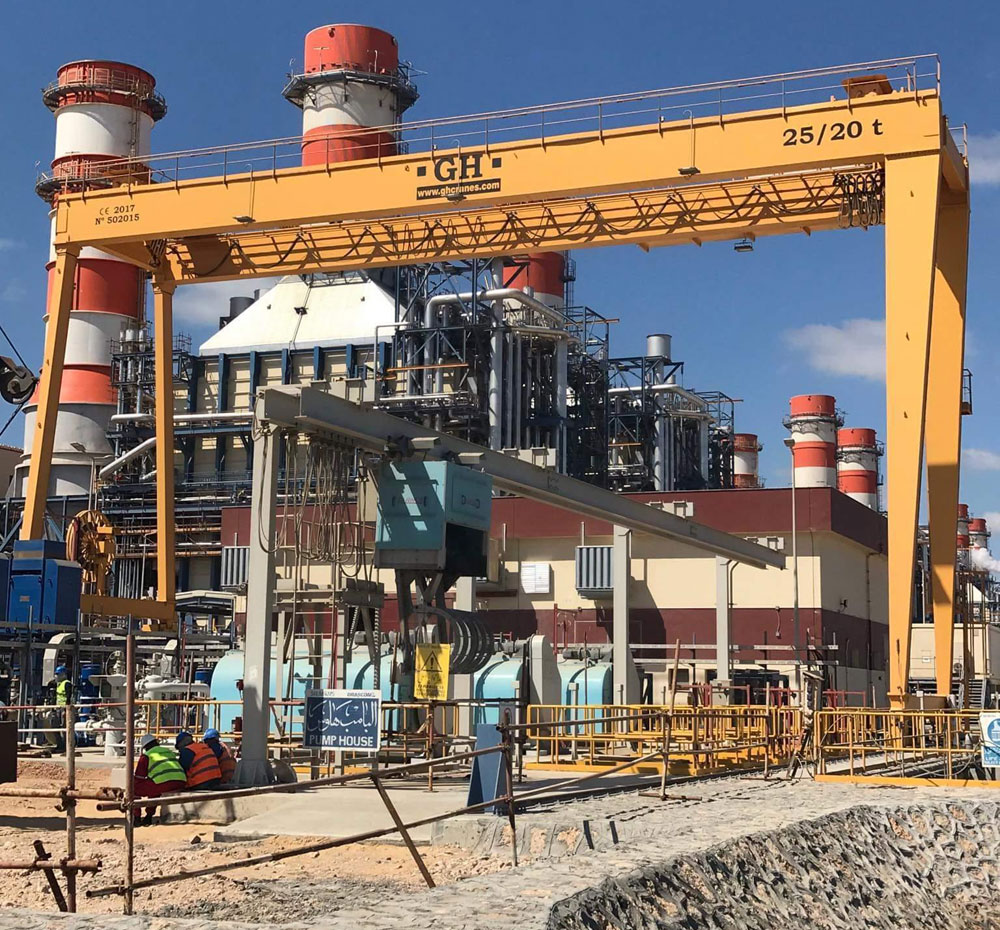<b>Customer</b>: El Burullus Power Plant Project. <b>Place of installation</b>: Egipto. <b>Capacity</b>: 25/20t. <br>